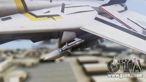 F-14D Tomcat Macross Yellow & Black for GTA San Andreas right view