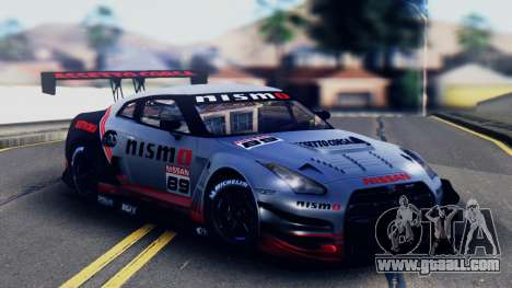 Nissan GT-R (R35) GT3 2012 PJ5 for GTA San Andreas upper view