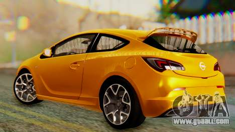 Opel Astra J OPC for GTA San Andreas back left view