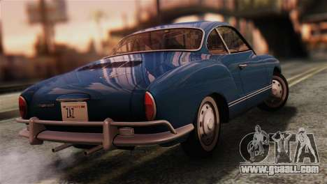 Volkswagen Karmann-Ghia Coupe (Typ 14) 1955 IVF for GTA San Andreas left view