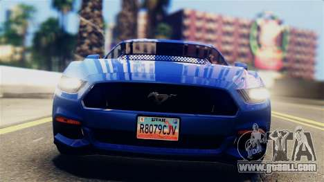 Ford Mustang GT 2015 Stock Tunable v1.0 for GTA San Andreas back left view