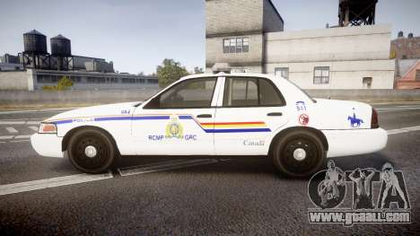 Ford Crown Victoria RCMP Campbellton [ELS] for GTA 4 left view