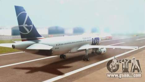 LOT Polish Airlines Airbus A320-200 (New Livery) for GTA San Andreas left view