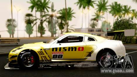 Nissan GT-R (R35) GT3 2012 PJ4 for GTA San Andreas side view