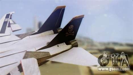 F-14D Tomcat Macross Yellow & Black for GTA San Andreas back left view