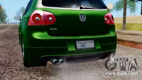 Volkswagen Golf Mk5 GTi Tunable PJ for GTA San Andreas upper view