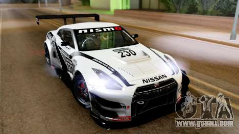 Nissan GT-R (R35) GT3 2012 PJ4 for GTA San Andreas left view