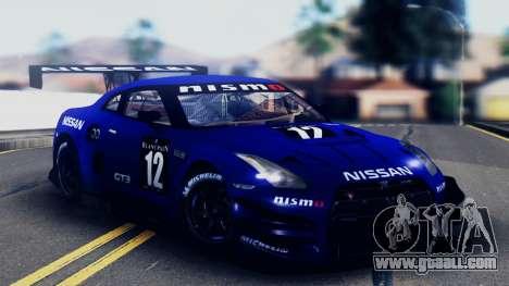 Nissan GT-R (R35) GT3 2012 PJ5 for GTA San Andreas engine