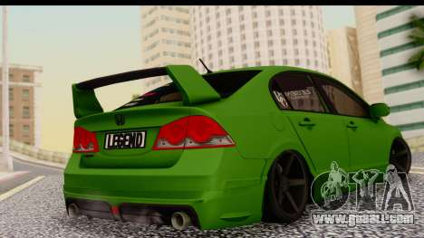 Honda Civic FD6 for GTA San Andreas left view