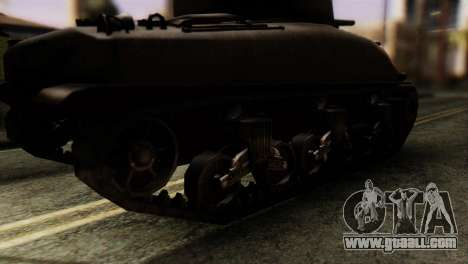M4 Sherman v1.1 for GTA San Andreas back left view