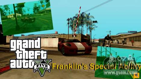 Special ability of Franklin indicator for GTA San Andreas