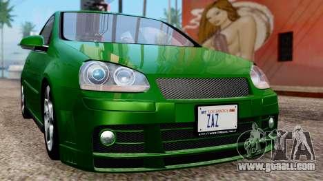 Volkswagen Golf Mk5 GTi Tunable PJ for GTA San Andreas side view