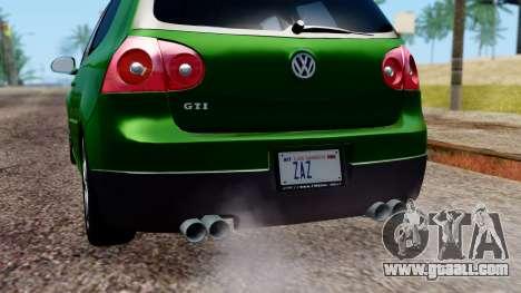 Volkswagen Golf Mk5 GTi Tunable PJ for GTA San Andreas interior