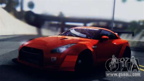 Nissan GT-R R35 LW for GTA San Andreas