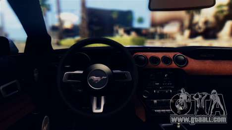 Ford Mustang GT 2015 Stock Tunable v1.0 for GTA San Andreas inner view