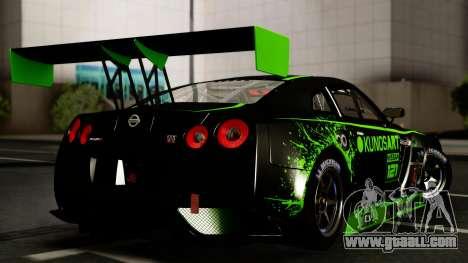 Nissan GT-R (R35) GT3 2012 PJ4 for GTA San Andreas inner view