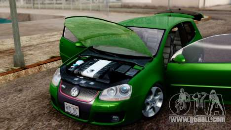 Volkswagen Golf Mk5 GTi Tunable PJ for GTA San Andreas back view