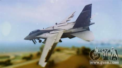 F-14A Tomcat VF-111 Sundowners Low Visibility for GTA San Andreas left view