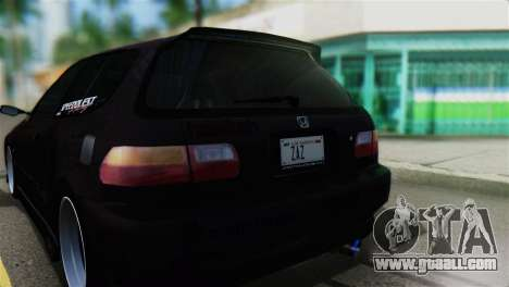 Honda Civic EG6 Kotomi Clannad Itasha for GTA San Andreas back view