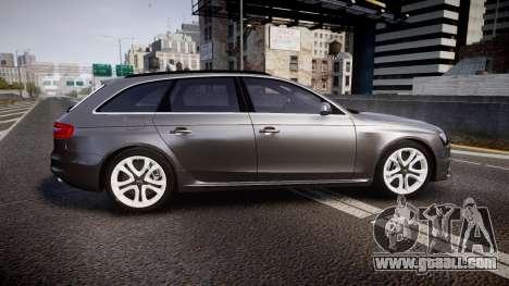 Audi S4 Avant Unmarked Police [ELS] for GTA 4 left view