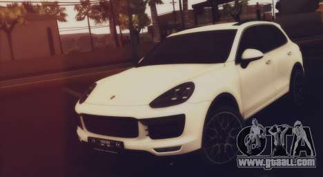 Porsche Cayenne Turbo S GTS 2015 for GTA San Andreas back left view