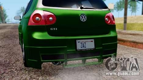 Volkswagen Golf Mk5 GTi Tunable PJ for GTA San Andreas bottom view
