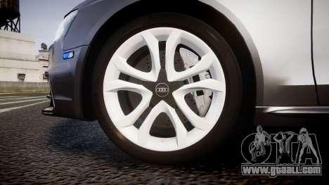 Audi S4 Avant Unmarked Police [ELS] for GTA 4 back view