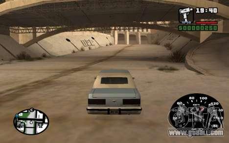 Speedometer from VAZ 2105 for GTA San Andreas third screenshot