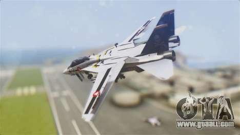 F-14D Tomcat Macross Yellow & Black for GTA San Andreas left view