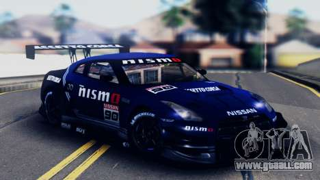 Nissan GT-R (R35) GT3 2012 PJ5 for GTA San Andreas bottom view