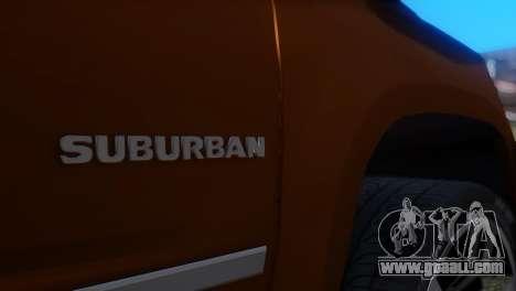 Chevrolet Suburban 2015 for GTA San Andreas back view