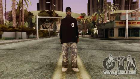 New Ballas Skin for GTA San Andreas second screenshot