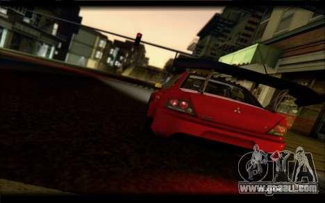 Mitsubishi Lancer Evolution IX Street Edition for GTA San Andreas right view
