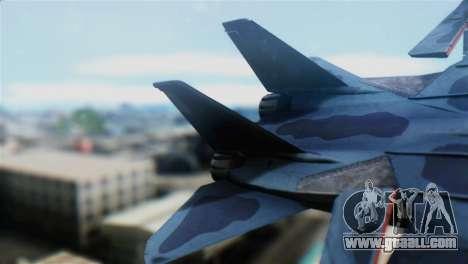 F-14J Super Tomcat JASDF for GTA San Andreas back left view