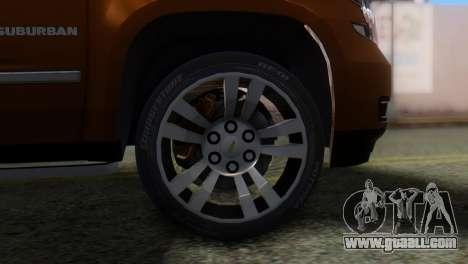 Chevrolet Suburban 2015 for GTA San Andreas back left view