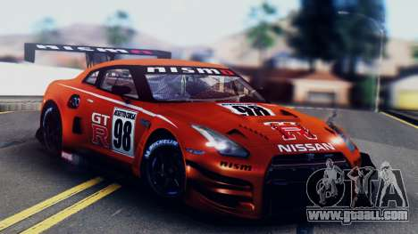 Nissan GT-R (R35) GT3 2012 PJ5 for GTA San Andreas interior