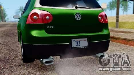 Volkswagen Golf Mk5 GTi Tunable PJ for GTA San Andreas engine