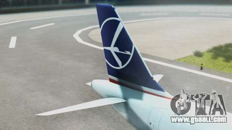 LOT Polish Airlines Airbus A320-200 (New Livery) for GTA San Andreas back left view