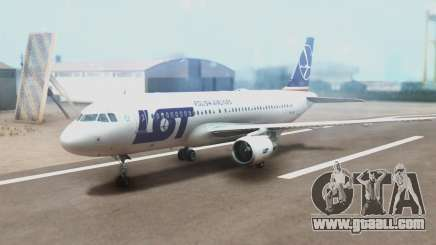 LOT Polish Airlines Airbus A320-200 (New Livery) for GTA San Andreas