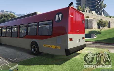 GTA 5 New Bus Textures v2 left side view
