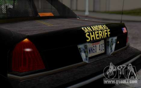 Ford Crown Victoria Sheriff for GTA San Andreas back view