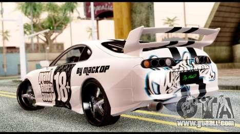 Toyota Supra Full Tuning v2 for GTA San Andreas left view