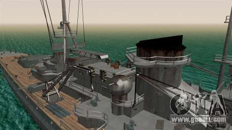Scharnhorst Battleship for GTA San Andreas back view
