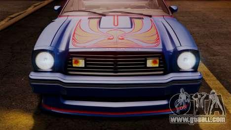 Ford Mustang King Cobra 1978 for GTA San Andreas wheels