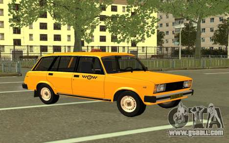 VAZ 2104 Taxi for GTA San Andreas back left view