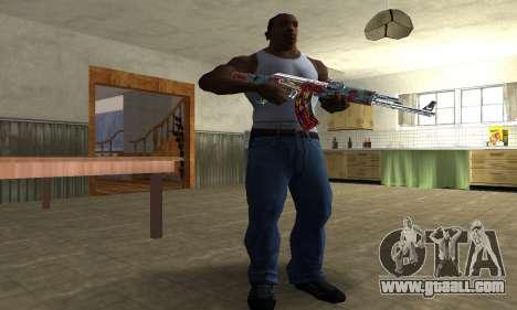 Cool Graf AK-47 for GTA San Andreas third screenshot