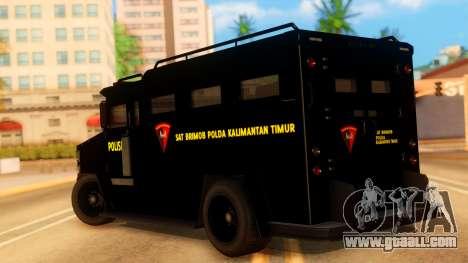 Sat Brimob Skin Enforcer from GTA 5 for GTA San Andreas left view