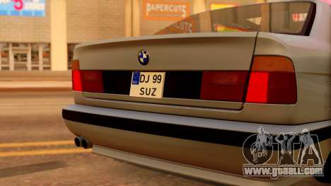 BMW M5 E34 Stance for GTA San Andreas back view