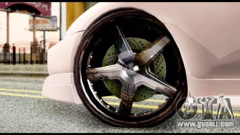 Toyota Supra Full Tuning v2 for GTA San Andreas back left view