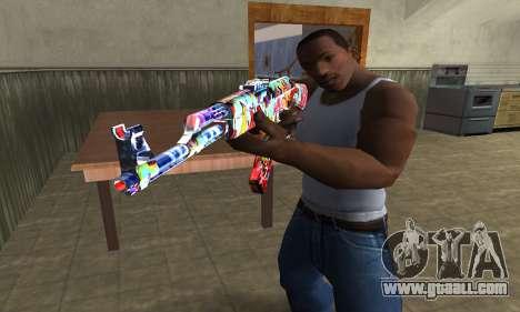 Cool Graf AK-47 for GTA San Andreas second screenshot